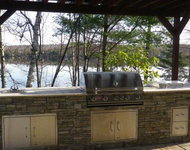 Cuisiner vue sur le lac