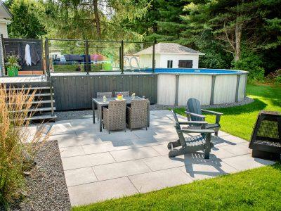 L'accès à la piscine hors terre