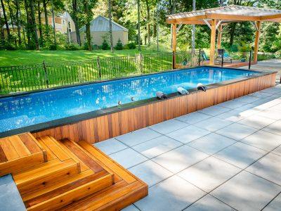 La piscine semi-creusée